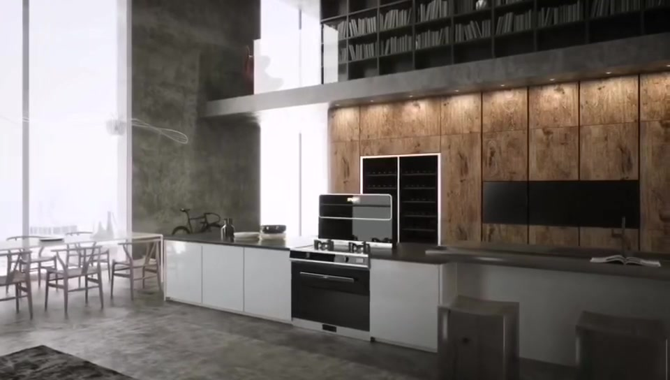 厨房改造--奥田缔造开放厨房西安蓝田县店